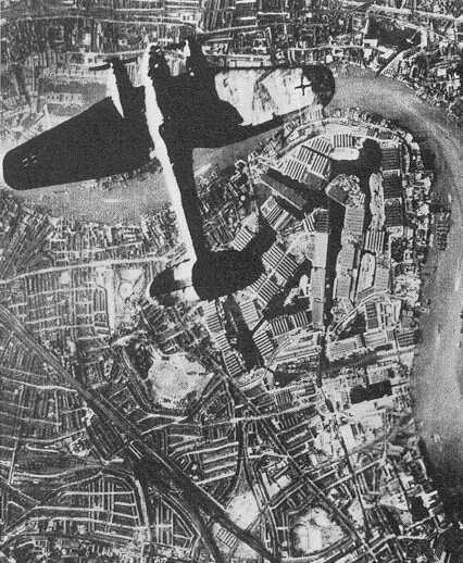 Air raid on Surrey dock September 1940