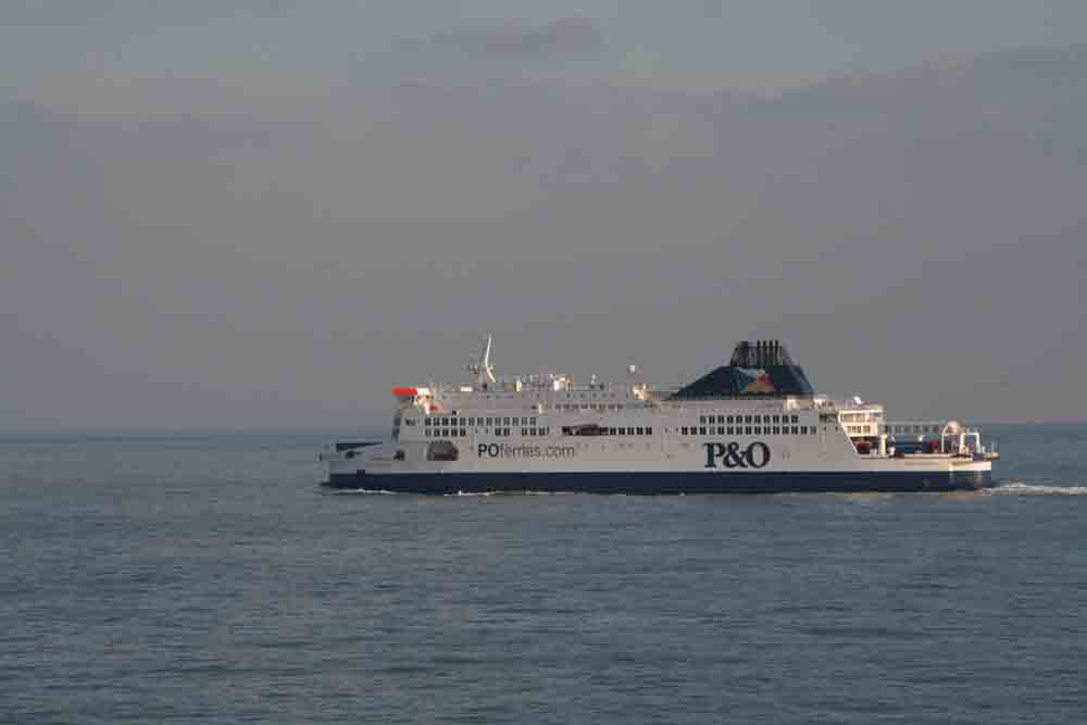 The ferry out to France