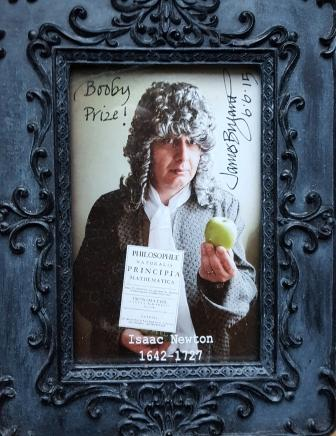 Me as Isaac Newton