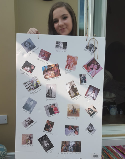 Erin with my picture board