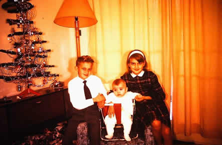 Christmas 1962, Me, Keven and Ruth