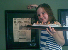 Me with the Titanic model that I made