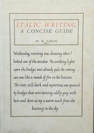 Italic Writing by W.M Aaron