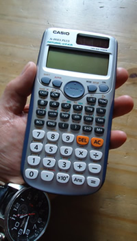 Casio handheld calculator, 2011, Fx-991ES